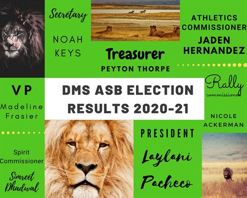 DMS ASB Election Results 2020-2021